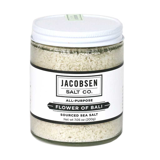 Jacobsen Salt - Flower of Bali Sea Salt, 7oz Jar