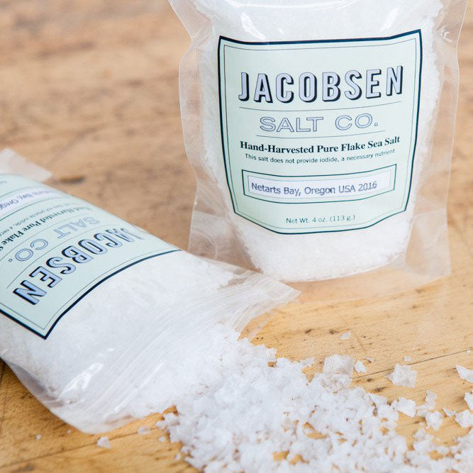 Jacobsen Salt - Flake Finishing Sea Salt, 4oz Bag