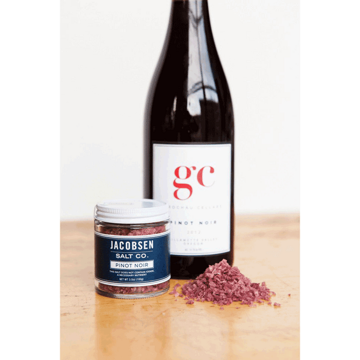 Jacobsen - Infused Sea Salt - Pinot Noir Flavor, 2.75oz