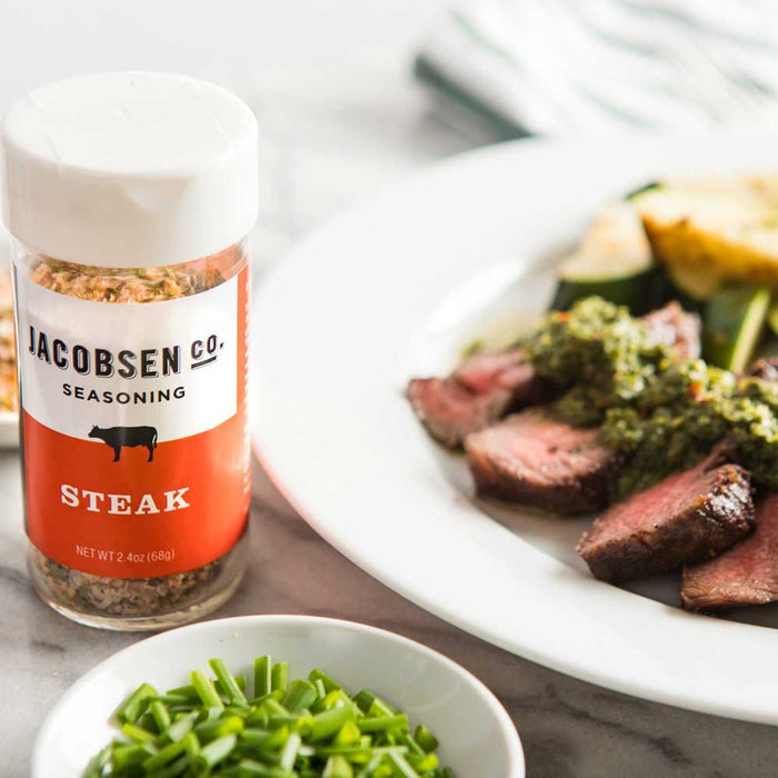 Jacobsen Salt - Steak Seasoning Salt Shaker, 2.4oz