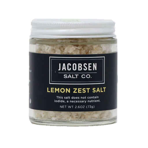 Jacobsen Salt - Infused Sea Salt - Lemon Zest Flavor, 2.6oz