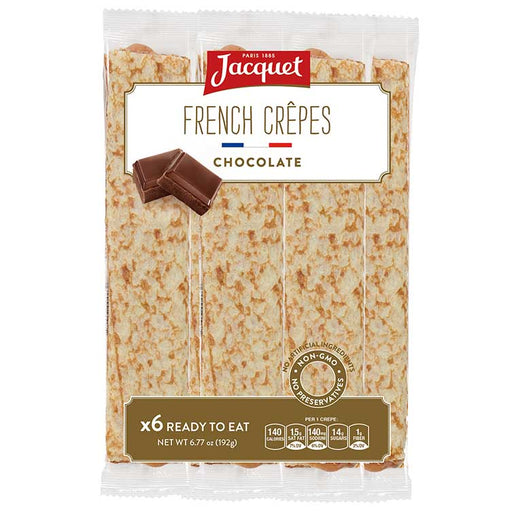Jacquet Chocolate French Crepes (Ready To Eat), 6 pc