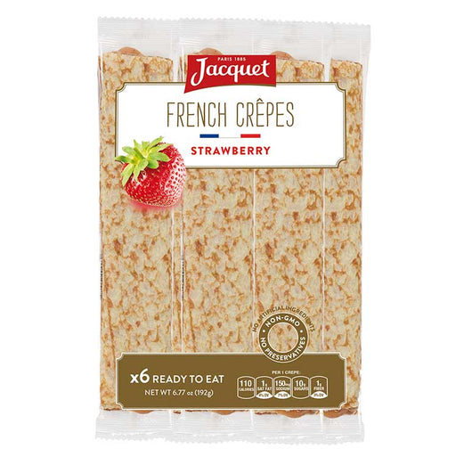 Jacquet Strawberry French Crepes (Ready To Eat), 6 pc