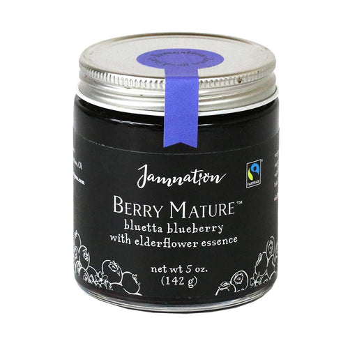 Jamnation - Bluetta Blueberry Jam with Elderflower Essence, 5oz