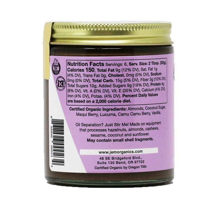 Jem Raw, Organic Superberry Maqui Camu Almond Spread, 6.52oz