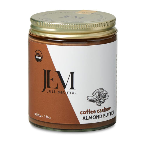 Jem Raw - Organic Coffee Cashew Almond Butter, 6.5oz