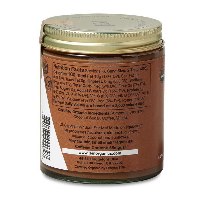 Jem Raw - Organic Coffee Cashew Almond Butter, 6.52oz