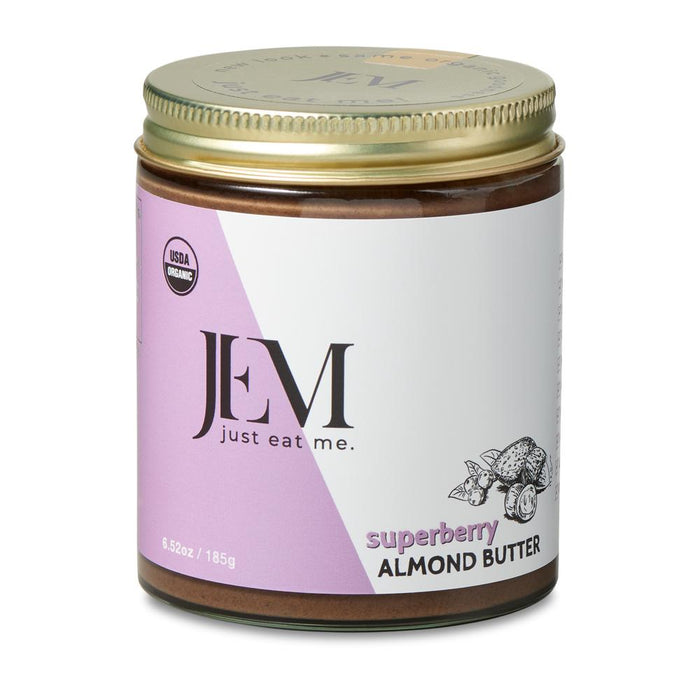 Jem Raw, Organic Superberry Maqui Camu Almond Spread, 6oz