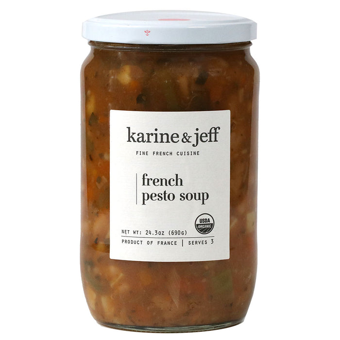 Karine & Jeff - Organic French Pesto (Pistou) Soup, 24.3oz