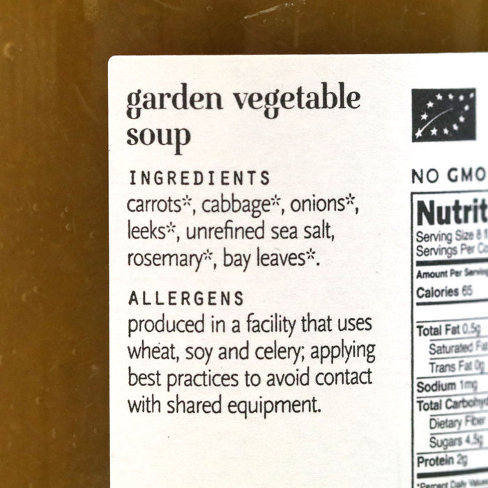 Karine & Jeff - Organic Garden Vegetable Soup, 16.9 fl oz