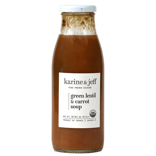 Karine & Jeff - Organic Green Lentil & Carrot Soup, 16.9 fl oz