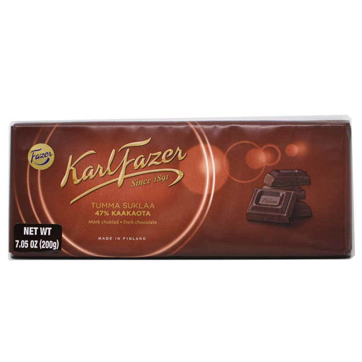 Karl Fazer - 47% Dark Chocolate Bar, 200g