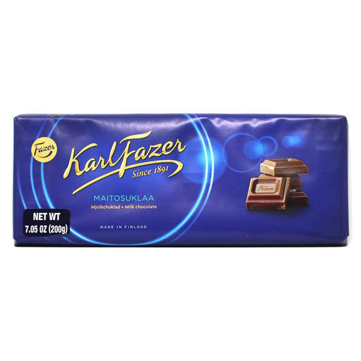 Karl Fazer - Blue Original Finnish Milk Chocolate Bar, 200g