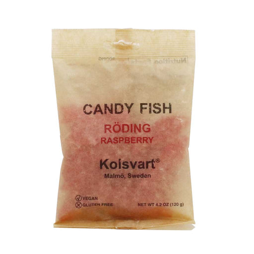 Kolsvart - Swedish Raspberry Fish Candy, 4.2oz