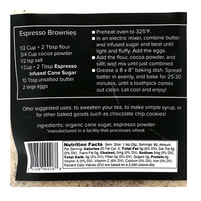 Espresso Infused Cane Sugar by Krista's Baking Co, 14oz