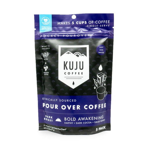 Kuju Coffee - Bold Awakening Pourover Coffee, Pack of 5, 2.5oz (71g)