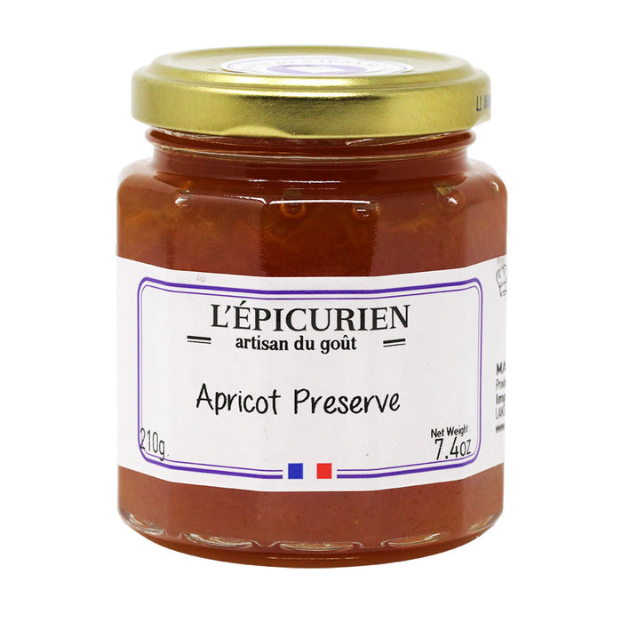 L'Epicurien - All-Natural Apricot Jam, 7.4oz (210g) Jar