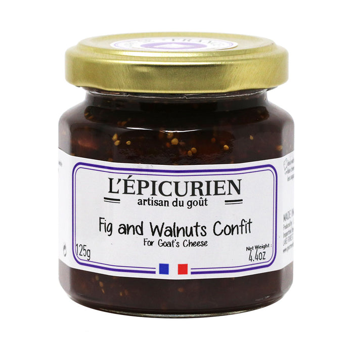 L'Epicurien - Fig & Walnut Confit, 4.4oz Jar