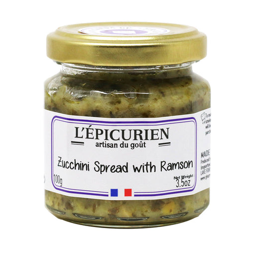 L'Epicurien - Zucchini Spread with Ramson Chives, 3.5oz (100g) Jar