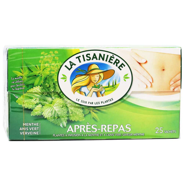 La Tisaniere - After Dinner Mint Herbal Tea - 25 Sachets, 37.5g (1.3oz)