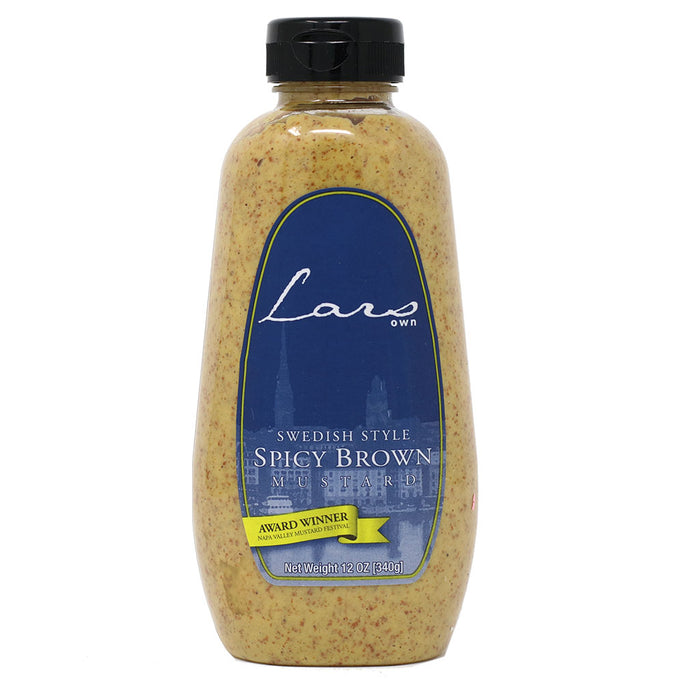 Lars Own - Swedish Style Spicy Brown Mustard, 12oz
