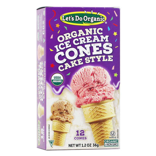Let's Do Organic - Organic Ice Cream Cones, 12ct, 1.2oz
