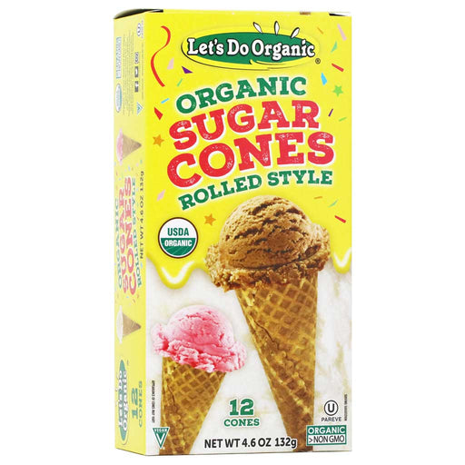 Let's Do Organic - Organic Sugar Cones, 12ct, 4.6oz