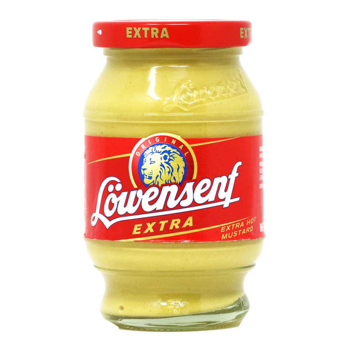 Lowensenf - Extra Hot German Mustard, 9.34oz (265g)