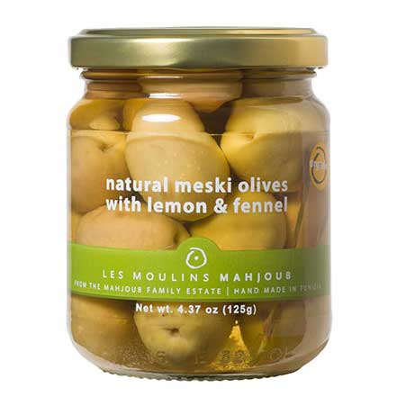 Mahjoub - Organic Meski Olives with Lemon & Fennel, 125g