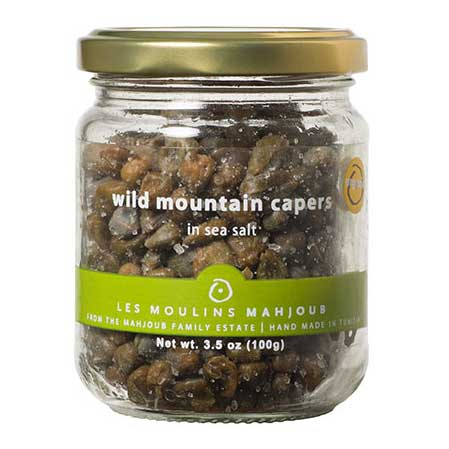 Mahjoub - Organic Small Wild Mountain Capers in Sea Salt, 100g