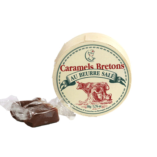 Maison Armorine - Soft Salted Caramel Candy, 50g Round Box