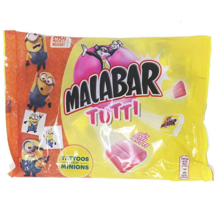Malabar - Tutti Frutti Bubble Gum, 32 Pieces, Sachet, 214g (7.6oz)