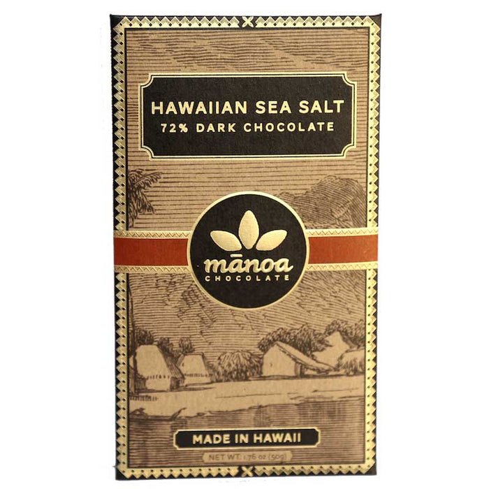 Manoa Hawaiian Sea Salt Dark Chocolate Bar, 1.76 oz