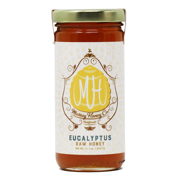 Massey Raw Eucalyptus Honey, 11.1oz Jar
