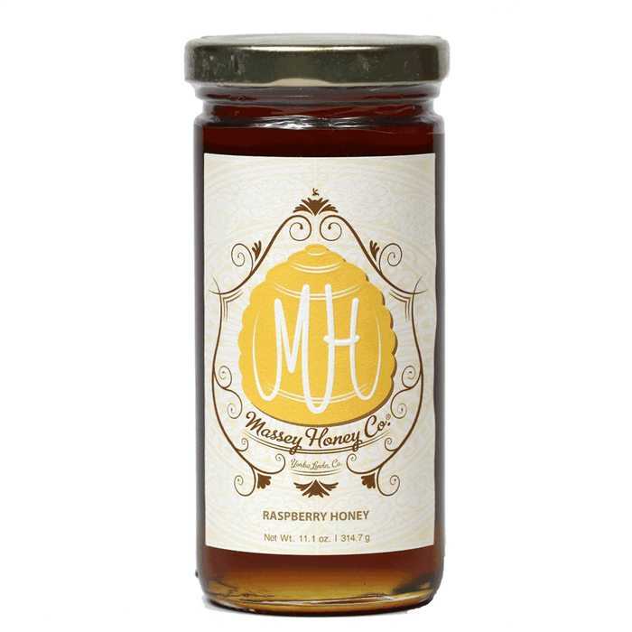 Massey Raw Raspberry Honey, 11.1oz Jard