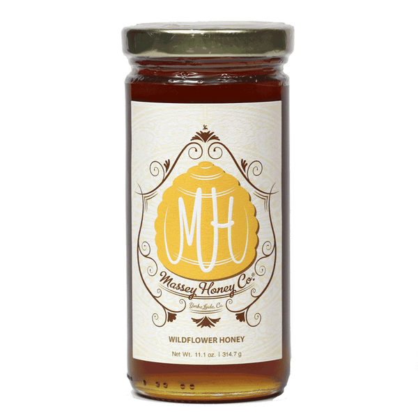 Massey Raw Wildflower Honey, 11.1oz Jar