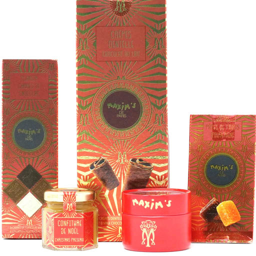Maxim's Paris - French Confectionery Treats & Specialty Sweets (Douceurs de Noel) Gift Set, 9.6oz (272g)