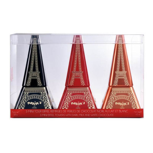 Maxim's Paris - 3 Mini Eiffel Towers with Chocolate Pearls Gift Box