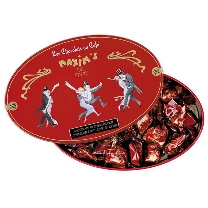 Maxim's Paris - Coffee Candies Coated with Dark Chocolate, Gift Tin 6.2oz (175g)
