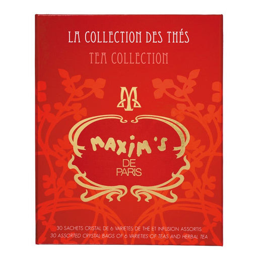 Maxim's Paris - 30 Assorted Tea Bags Collection, 57g Gift Box