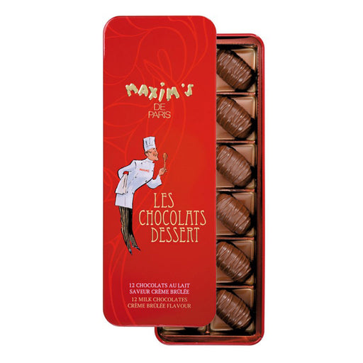 Maxim's Paris - Milk Chocolate Creme Brulee Flavor, 12 pc Gift Tin