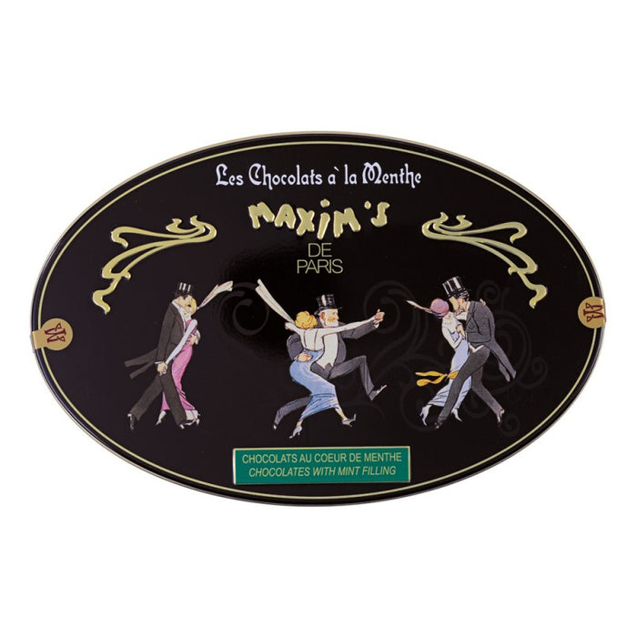 Maxim's Paris - Mint Candies Coated with Dark Chocolate, Gift Tin (175g)