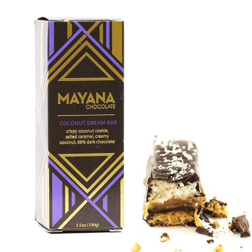 Mayana Chocolate - 66% Dark Chocolate Bar, Coconut Dream Bar, 3.53oz