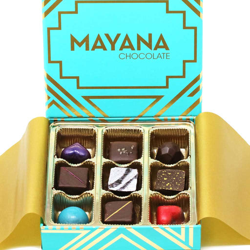 Mayana Chocolate  9-Piece Handcrafted Chocolate Signature Gift Box