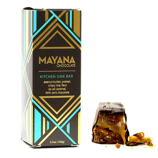 Mayana Chocolate - 66% Dark Chocolate Bar, Kitchen Sink, 3.53oz