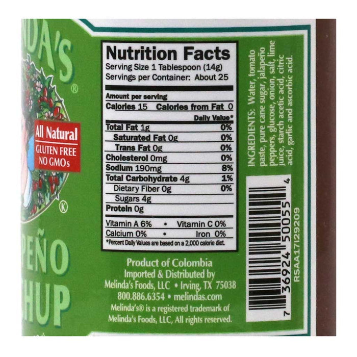 Melinda's - All-Natural Jalapeno Ketchup, 12.3oz