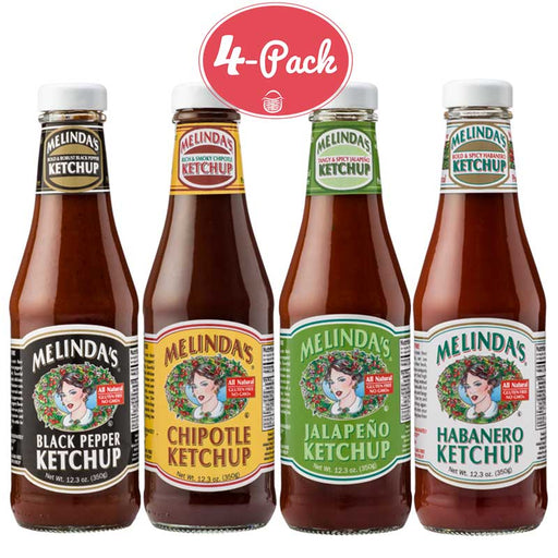 Melinda's - All-Natural Ketchup Sampler Pack, 4 x 12.3oz