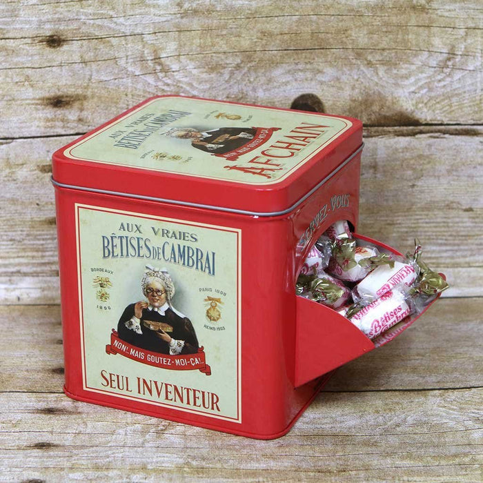 "AF Chain - Metal Box ""Help Yourself"" - Candies Mint Flavor Les Betises, 400g"