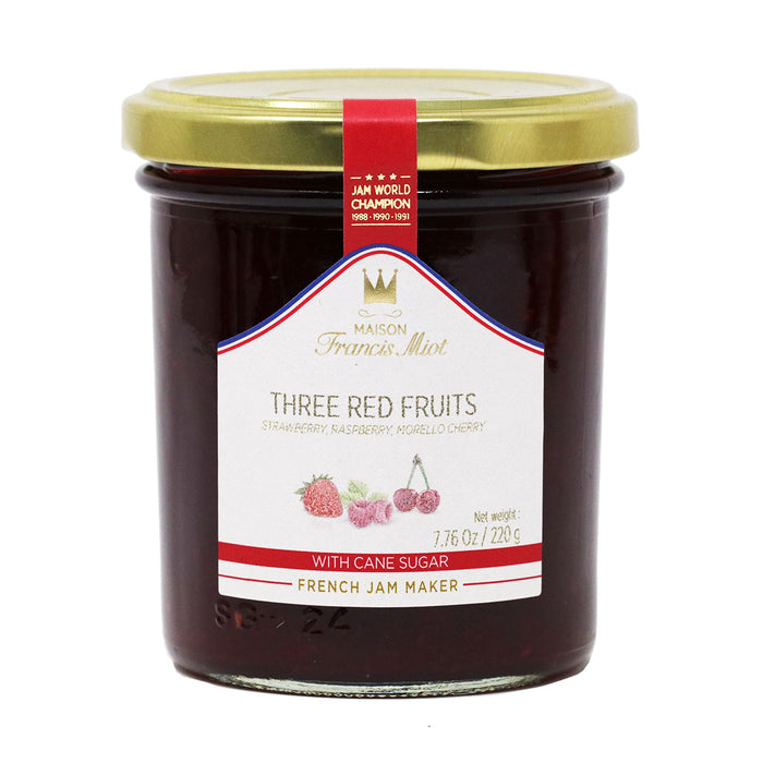 Miot - Three Red Fruits Preserve (Strawberry, Raspberry, Sour Cherry), 220g