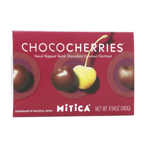 Mitica - Hand Dipped Dark Chocolate Cherries, 4.94oz (140g)